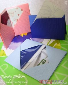 Origami instructions - paper pocket