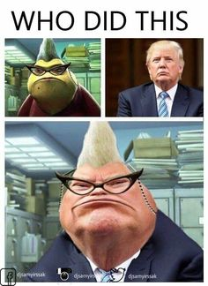 Funny Donald Trump memes are having a hell of a year. We've compiled the best Donald Trump memes, jokes, gifs, pics, and vids from Really Funny Memes, Crazy Funny Memes, Funny Animal Memes, Stupid Memes, Funny Relatable Memes, Haha Funny, Funny Stuff, Humour Disney, Funny Disney Jokes