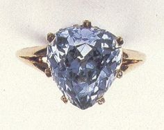 The Marie-Antoinette Blue Diamond: 5.64 carat blue heart shaped diamond which the queen had set in a ring. The queen gave the ring to her close friend Princess Lobomirska, shortly before her trial in 1791. After the Polish princess died her estate was passed to her four daughters. The diamond became the property of Count Wladimir Potocki through his marriage to one of the daughters. It belongs to a private collector in Europe and is not on display to the public.