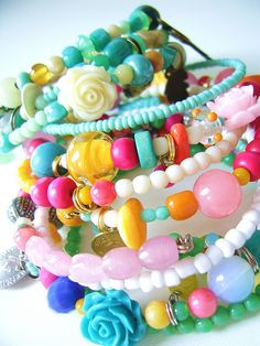 bracelets for my Etsy-shop  by silly old suitcase via Flickr.