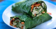 Veggie-Wraps with Herbed Hummus