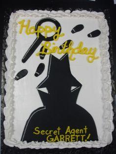 secret agent spy cake