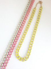Painted Links- Lime - The Pink Studs Online Jewelry Boutique