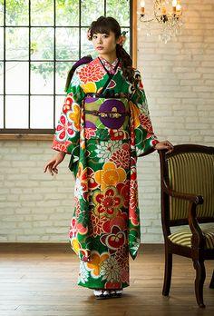 NO.1734 正絹 京友禅|成人式の振袖販売、振袖レンタルの京都きもの友禅
