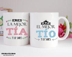 Las tazas ideales para esos tíos y tías que son geniales!   Consíguelas en www.virusdlafelicidad.com  #virusdlafelicidad #taza #tio #tia #tiet #tieta #regalo #tassa #regal