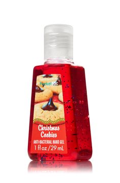 Christmas Cookies PocketBac Sanitizing Hand Gel - Anti-Bacterial - Bath & Body Works - gift or wish list Bath Body Works, Bath N Body, Bath And Bodyworks, Body Spray, Smell Good, Hand Sanitizer, Body Wash, Body Lotion, The Balm