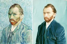 Modern remakes of famous paintings. Click for more