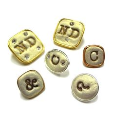 Monogrammed buttons with Jewelry Clay!  Resin Crafts