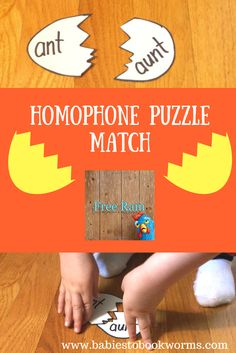 Teach kids about bravery and trying new things, while practicing important skills and having fun!    Homophone Game | Puzzle Game | English Games for Kids