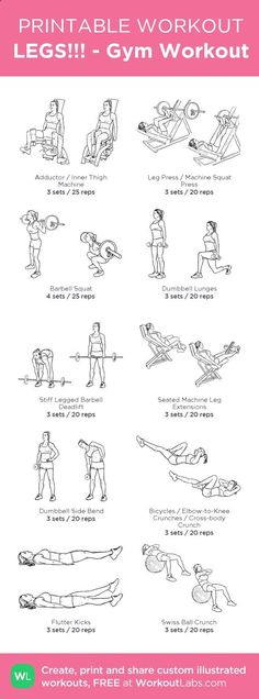 Gym Workout My Custom Created At WorkoutLabs O Click Through To Download As Printable PDF Customworkout