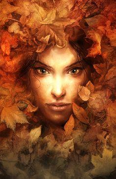 """Forest girl' 2007 by Michael Ivan / Perzo .........  Michael Ivan [Slovakian artist and illustrator, born 1982]"