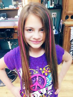 Kid Hair Colored Extensions Glued In