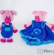 Eddie the Piggy Lovey & Amigurumi Set - via @Craftsy
