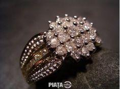 Vestimentatie, Bijuterii, accesorii, Inel Aur 14 Unisex Cu Diamante 0 80ct.., imaginea 1 din 2 Aur, Monogram, Brooch, Jewelry, Fashion, Moda, Jewlery, Jewerly, Fashion Styles
