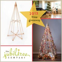 It's time for our 2013 Tree Giveaway. Enter to win one classic tree by November 30th, 2013! | The Jubiltree Company, LLC  | Modern Wood Christmas Trees