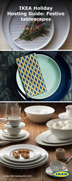 It's easy to add a touch of glamour to any seasonal table. Dress your dinnerware for holiday celebrations at an impressive value all year long. Click to find inspiration for your next dinner party from the IKEA holiday gift guide.
