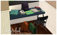Millwood Outtakes - Loads of back to school recolors! (Swatches are. Sims 2 Hair, Tissue Boxes, Poker Table, Tool Design, College Students, Clutter, Back To School, Stuff To Buy, Furniture