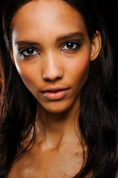 Cora Emmanuel at Roberto Cavalli Spring 2013 #backstage #beauty #ss13 #mfw