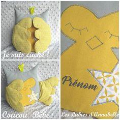 Doudou et Range pyjama Chouette / Hibou Coucou bébé