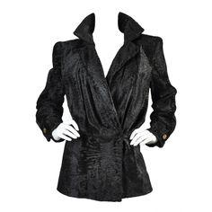 1stdibs   Galanos Avant Garde Broadtail Jacket, 1930s, Swakara broadtail pelts