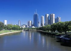 Melbourne, seen from Yarra River, is the largest city in the state of Victoria and the second most populated city in Australia. It's characterised by many grand civic buildings including Parliament House, Old Melbourne Gaol, the State Library, Melbourne Town Hall and many others. #Australia