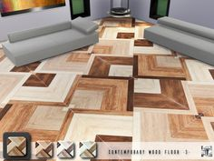 Sims 4 CC's - The Best: Contemporary Wood Floor 3 by Torque