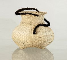 Natural reed spiral basket Housewarming gift  Eve by WeavingArt, $800.00