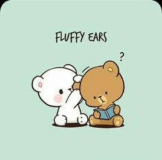 Cute Cartoon Pictures, Cute Love Pictures, Cute Love Cartoons, Cute Images, Funny Cartoons, Cute Spanish Quotes, Cute Bear Drawings, Chibi Cat, Emoji Love