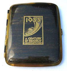 Century of Progress-World's Fair 1933-cigarette case