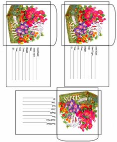 Free Printable Garden Seed Packets. Several different types to download!