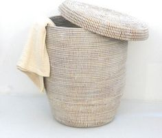 Woven Hamper - eclectic - hampers - by Brook Farm General Store