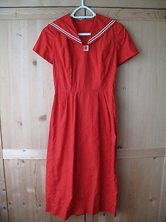 Red Vintage 1940s / 1950s Nautical Sailor Dress | Clothing, Shoes & Accessories, Vintage, Women's Vintage Clothing | eBay!