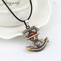 >> Click to Buy << feimeng jewelry Japanese Anime One Piece Necklace Pirate Luffy Anchor Skull Logo Pendant Necklace Fashion Cosplay Accessories #Affiliate