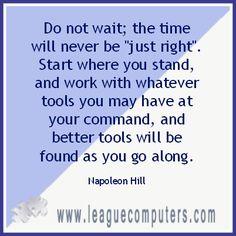 Monday's Motivation - Napoleon Hill Quote