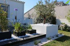 terrasse et jardinieres anthracite