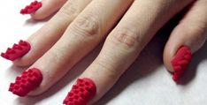 70 Hottest & Most Amazing 3D Nail Art Designs - Are you bored with your flat and plain nails? Do you want to make them catchier? Wearing accessories is a necessity to complement what you wear but it... -  3D Nail Art Designs (56) ~♥~ ...SEE More :└▶ └▶ http://www.pouted.com/70-hottest-most-amazing-3d-nail-art-designs/