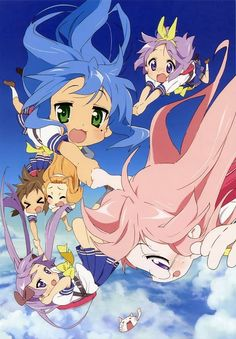 Lucky Star Kagami looks so comfortable, it's killing me.
