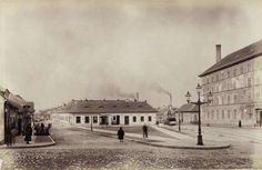 Kolosy (Lujza) tér a Szépvölgyi út felől nézve. Jobbra a Lajos utca és a Lujza Gőzmalom. A felvétel 1890 után készült. A kép forrását kérjük így adja meg: Fortepan / Budapest Főváros Levéltára. Levéltári jelzet: HU.BFL.XV.19.d.1.08.028