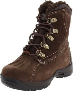 Timberland Mallard Snow Boot (Toddler/Little Kid/Big Kid) Timberland. $82.00. Rubber sole. Bungee closure for easy on/off. Non-marking rubber outsole. Ortholite footbed for all day comfort. Premium Waterproof Leather. Faux fur shearlinging for warmth. leather