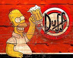 Beer Cartoon, Duff Beer, Best 90s Cartoons, Simpsons Drawings, Bar Signs, The Simpsons, The Duff, Picture Wall, Pop Art