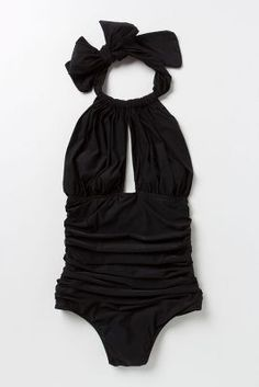 Lenny Niemeyer Ruched Halter Maillot