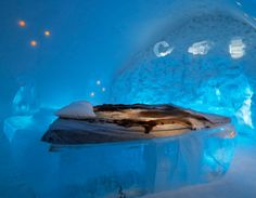Ice hotel suite- they rebuild this hotel every winter in jukkasjarvi, Sweden- so it looks different every season! SO rad Ice Hotel Quebec, Quebec City, Oh The Places You'll Go, Places To Travel, Ice Hotel Sweden, Beautiful World, Beautiful Places, Petkovic, Modern Bedroom Furniture