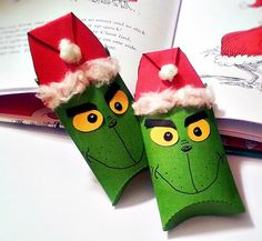 Grinch Inspired Christmas Pillow Treat Boxes by BBGPartyDesigns, $12.99