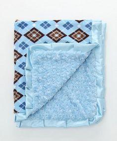 Blue Jake Minky Stroller Blanket