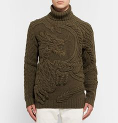 Ralph Lauren Purple Label - Cable-Knit Wool and Cashmere-Blend Rollneck Sweater Mens Fashion Sweaters, Knitwear Fashion, Knit Fashion, Roll Neck Sweater, Men Sweater, Young T, Mens Jumpers, Ralph Lauren, Pulls