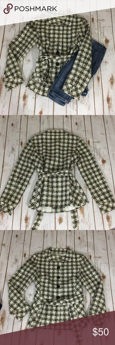 Checkered jacket Like new condition, GORGEOUS light weight jacket! Ann Taylor Jackets & Coats Pea Coats