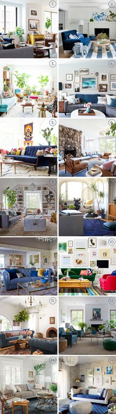 Living Room Round-Up posted by Emily Henderson New Living Room, Home And Living, Living Spaces, Living Room Decor, Modern Living, Living Room Inspiration, Interior Design Inspiration, California Cool, Loft