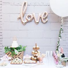 """We're spreading the love! Sign up for our email list (link in bio and hit """"subscribe"""" on the top nav bar) and enter to win one of 10 rose gold LOVE balloons perfect for birthday, bridal and bachelorette parties! Or just head to our shop (#linkinbio) and buy one, only $8! #NatsAdventuresPartyPlanning"""