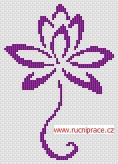Bloom, free cross stitch patterns and charts - www.free-cross-stitch.rucniprace.cz