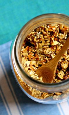 Cinnamon Banana Quinoa Granola ~ A deliciously healthy granola, full of nutritious goodness! Gluten-free and vegan, too! ~ from HeartBeet Kitchen